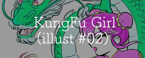 KungFu girl(イラスト#02)